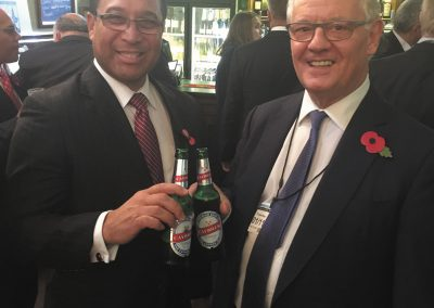 Premier and Mr. Webster promote Caybrew in the Palace of Westminster