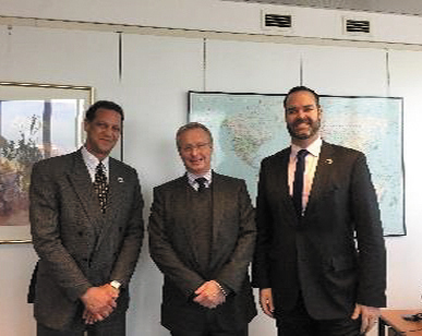 Mr. Bush with Overseas Territories Minister James Duddridge