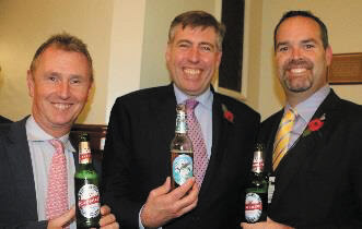 Nigel Evens MP and Graham Brady MP with Mr. Bush