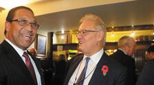 Premier and Mr Webster share a laugh