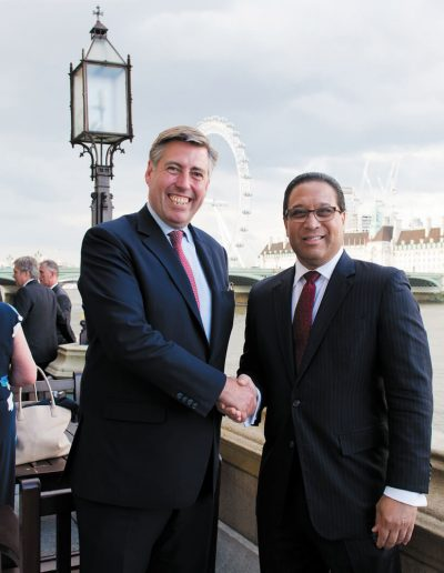 Premier McLaughlin with Sir Graham Brady MP