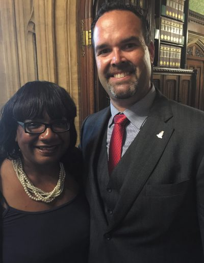 Mr. Bush with Diane Abbott MP