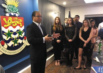 Students and Friends with Premier at Friends of Cayman Reception