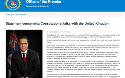Premier Statement Concerning Constitutional talks with the UK