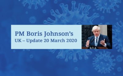 PM Boris Johnson's UK – Update – 20 March 2020