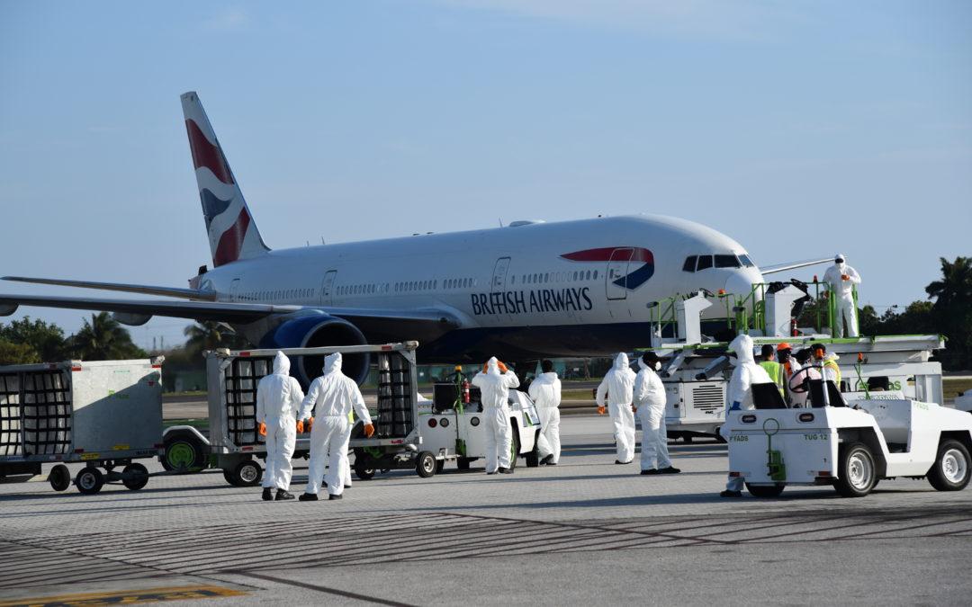 British Airways Flight Arrives in Grand Cayman