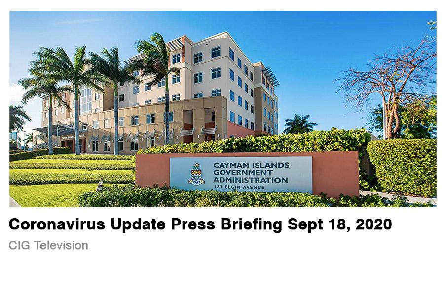 Cayman Islands Press Briefing 18 September 2020