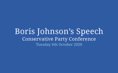 Boris Johnson's speech at the Conservative Party Conference
