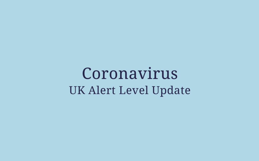Coronavirus UK Alert Level Update