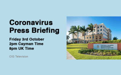 Cayman Islands Government Press Briefing October 2nd 2020