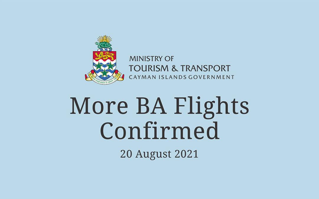 More BA Flights Confirmed